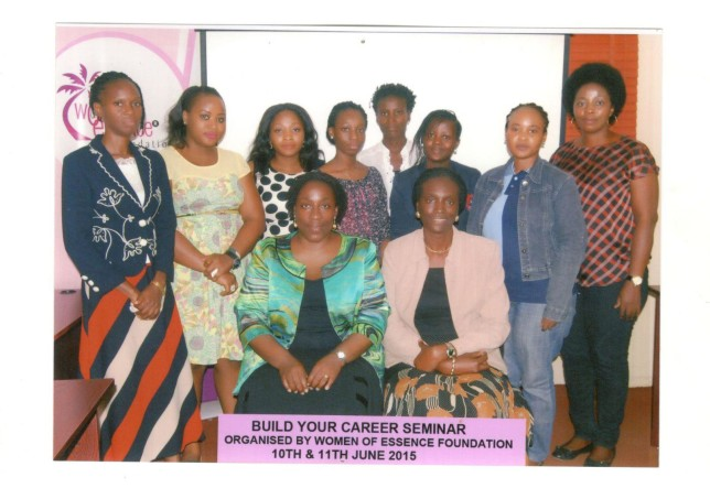 The participants with facilitators/President and Vice President of WOMEF
