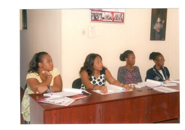 Participants listening attentively.