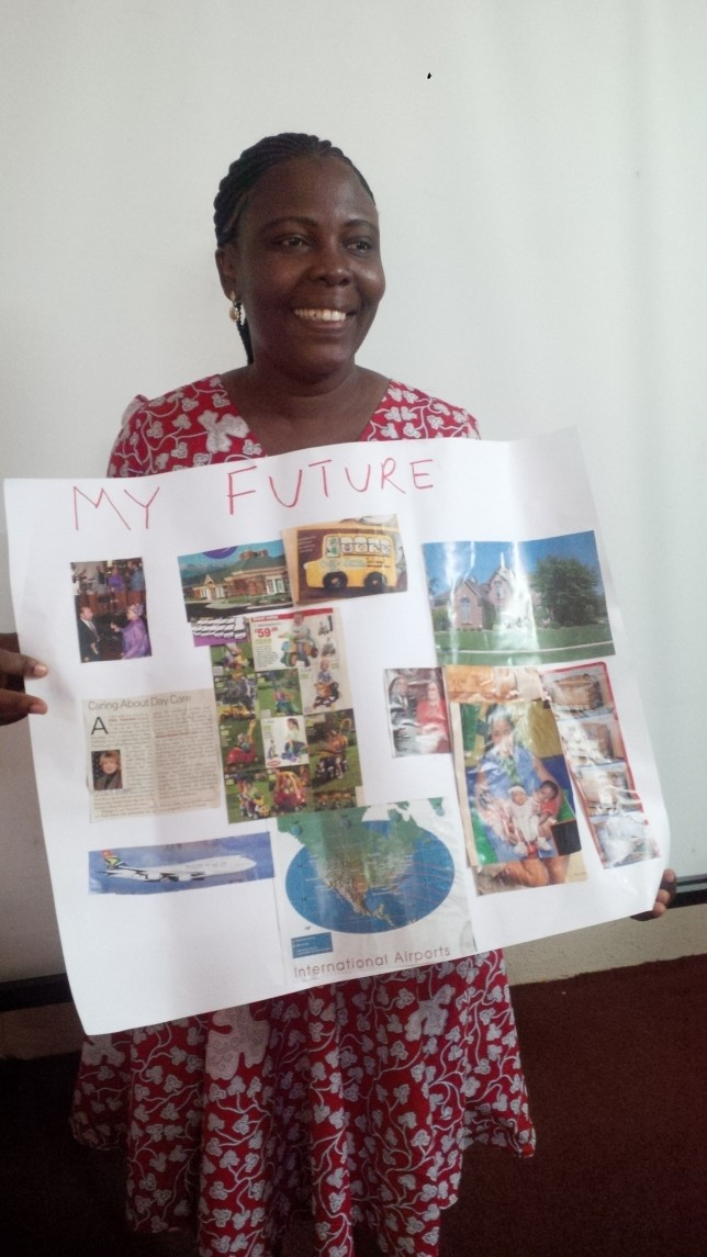 A participant with her Dream Board