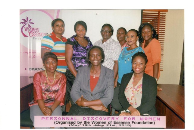 Participants with the WOMEF team