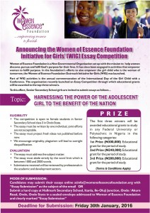 announcing the winners of the wig essay competition for girls  essay eflyer